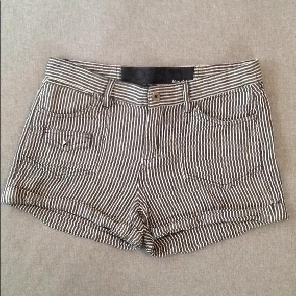 Joe's Jeans Pants - Joe's Jeans Striped Linen Shorts w/ Metal Studs